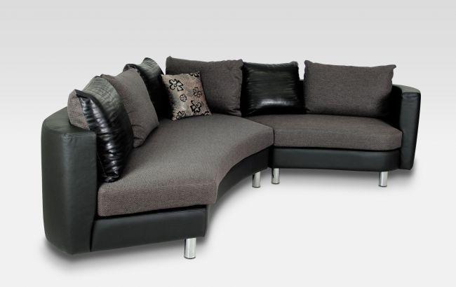 Sofa geschwungen  Sofa Hawaii in Stoff oder Leder - in vielen Bezügen Ihrer Wahl ...