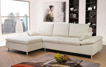 Ledersofa weiß  Sofa weiss endlich Wohnträume leben - VIKADI